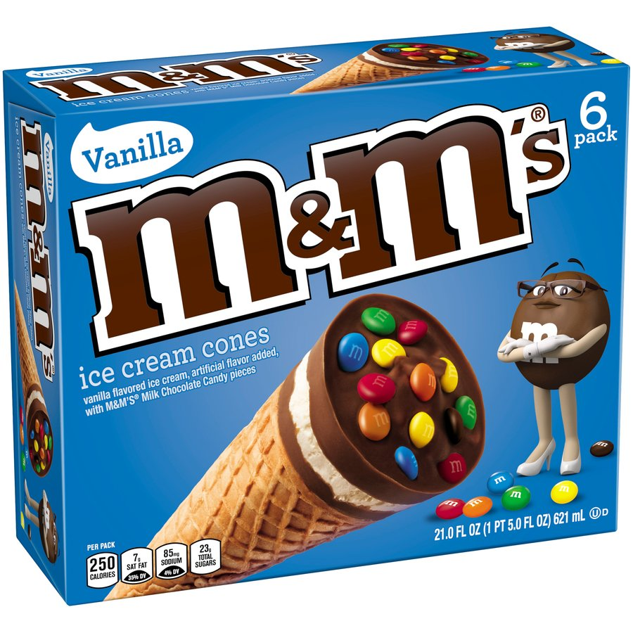 M&M's Ice Cream Cones Package