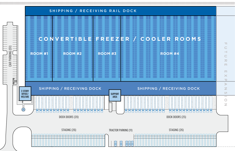 Ti Cold Dev- Phoenix AZ-Facility Floorplan