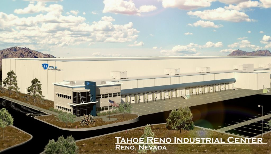 Ti Cold Development Building Rendering - Tahoe Reno Industrial Center Nevada