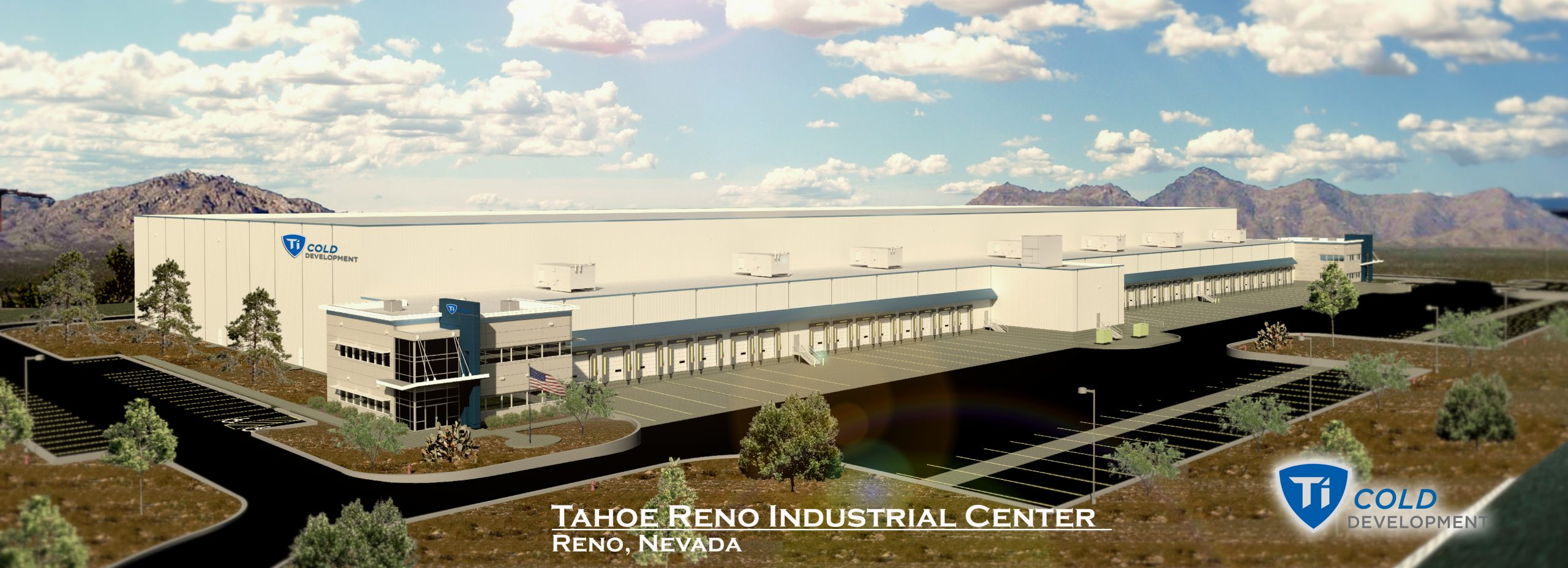 Ti Cold Development Building Rendering - Tahoe Reno Industrial Center Nevada